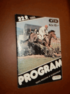 Dostihy Slušovice -program 1985